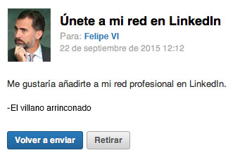 el villano arrinconado, humor, chistes, reir, satira, Linkedln, Felipe VI