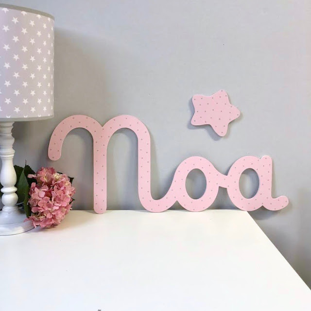 nombre de niña NOA para pegar en la pared , decoración infantil