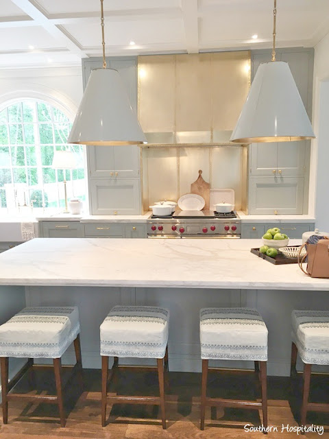 Stunning blue and white traditional kitchen in 2017 Southeastern Designer Showhouse in Atlanta