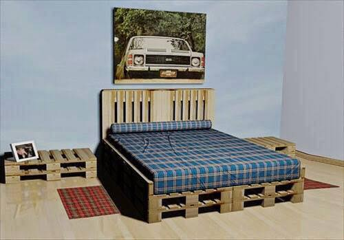 Pallet bedroom set