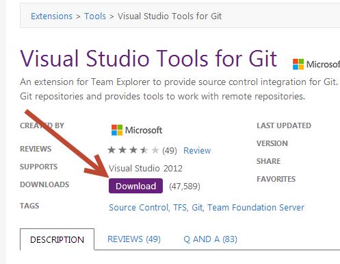 WhiteBoard Coder: Visual Studio 2012 Using a git Repository