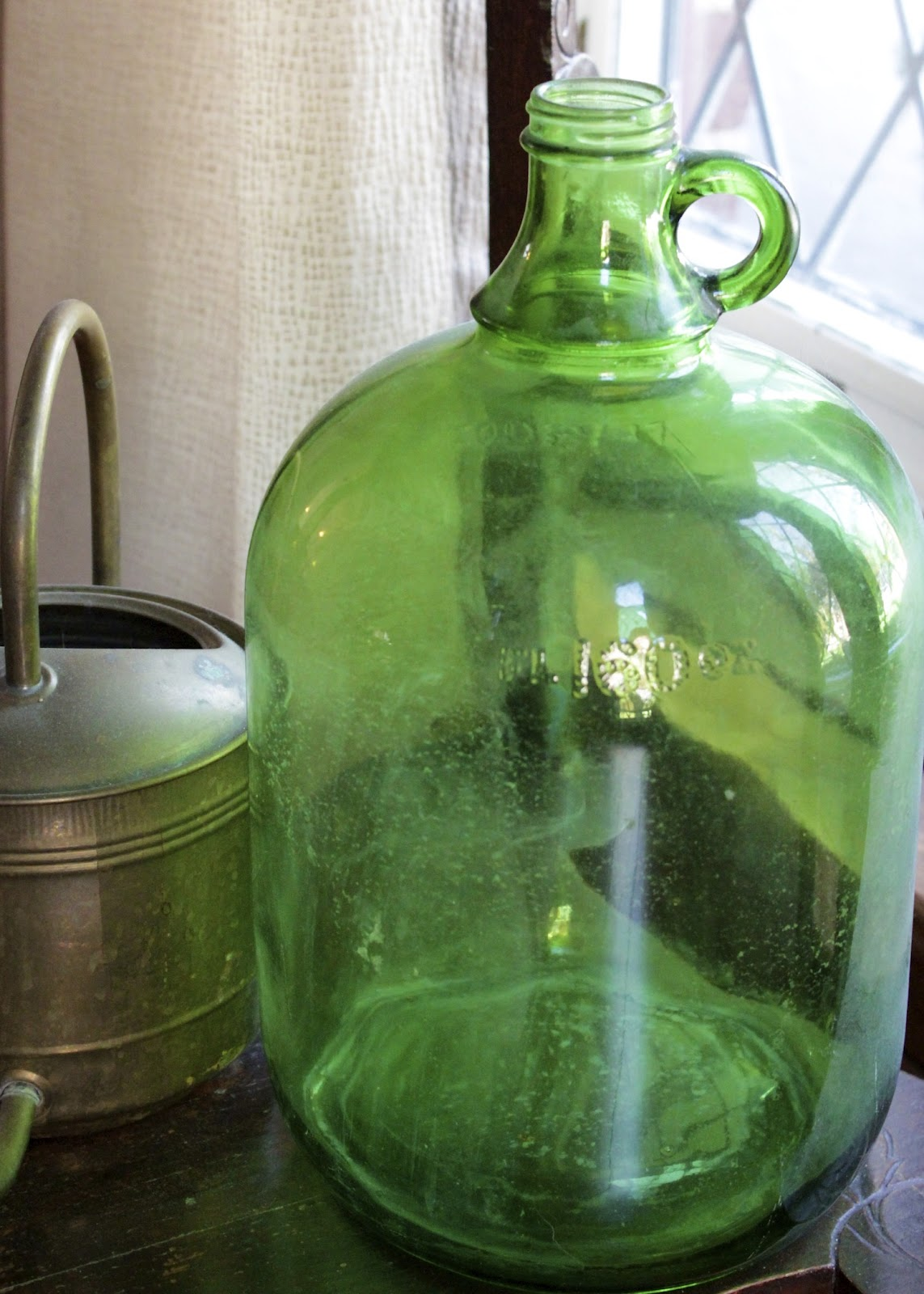 This Old Green Jug Was Found In The Attic Of Our House Oshawa Along With It S Larger Sister Which Is Curly Buried Deep Within Recesses