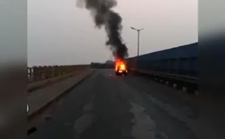 Fire in Indore-Bhopal road in Sihor district, 3 killed
