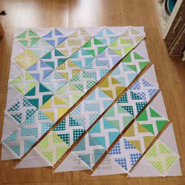 Patchwork Windmill Quilt