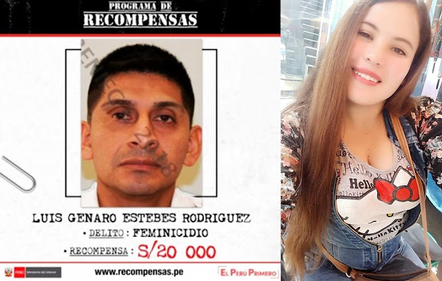 Ministerio del Interior, ofrece 20 000 soles, por información que ayude a dar con su paradero del presunto feminicida de Marisol Estela Alba