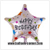 Balon Foil Bintang Motif HAPPY BIRTHDAY / Balon Foil Bintang HBD (NEW DESIGN)