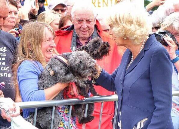 Prince Charles and Duchess Camilla visited the 136th Sandringham Flower Show held at Sandringham in King's Lynn