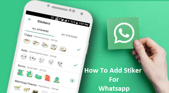 How To Add A Personal Stiker For Whatsapp - JankariHindiMe