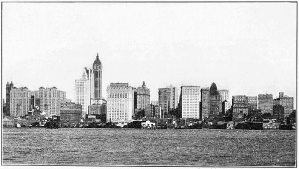 New York skyline in 1909