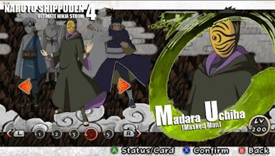 Naruto Shippuden : Ultimate Ninja Impact MOD Texture Madara Uchiha [Masked Man] For PPSSPP