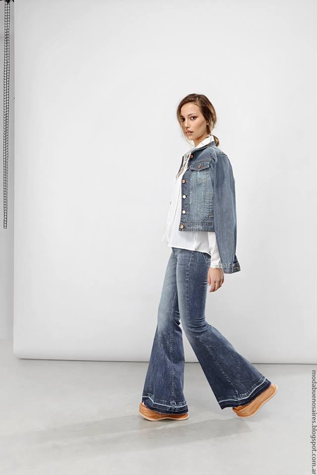 Moda verano 2017 ropa de mujer verano. Moda 2017 pantalones oxford.
