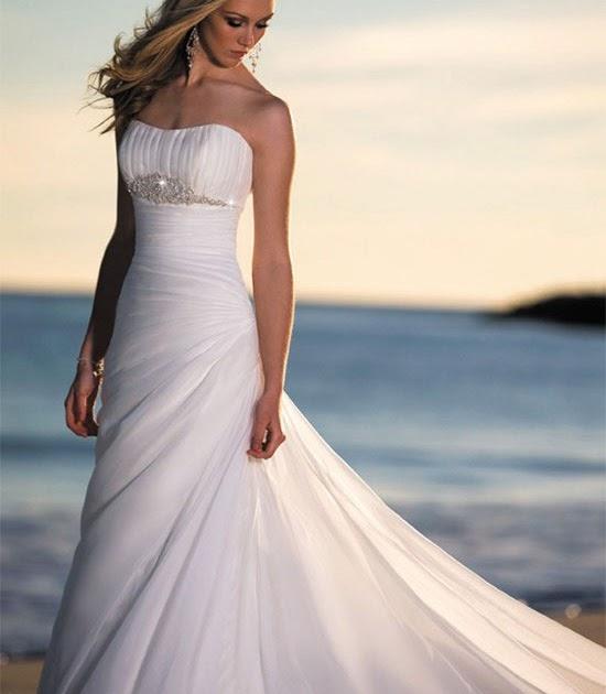 Beach Wedding Gowns Pinterest: Wedding Fashion: Elegant Romantic Beach Wedding Gowns