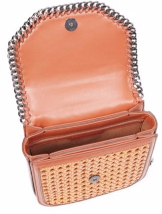 Falabella Box Wicker Basket Handbag