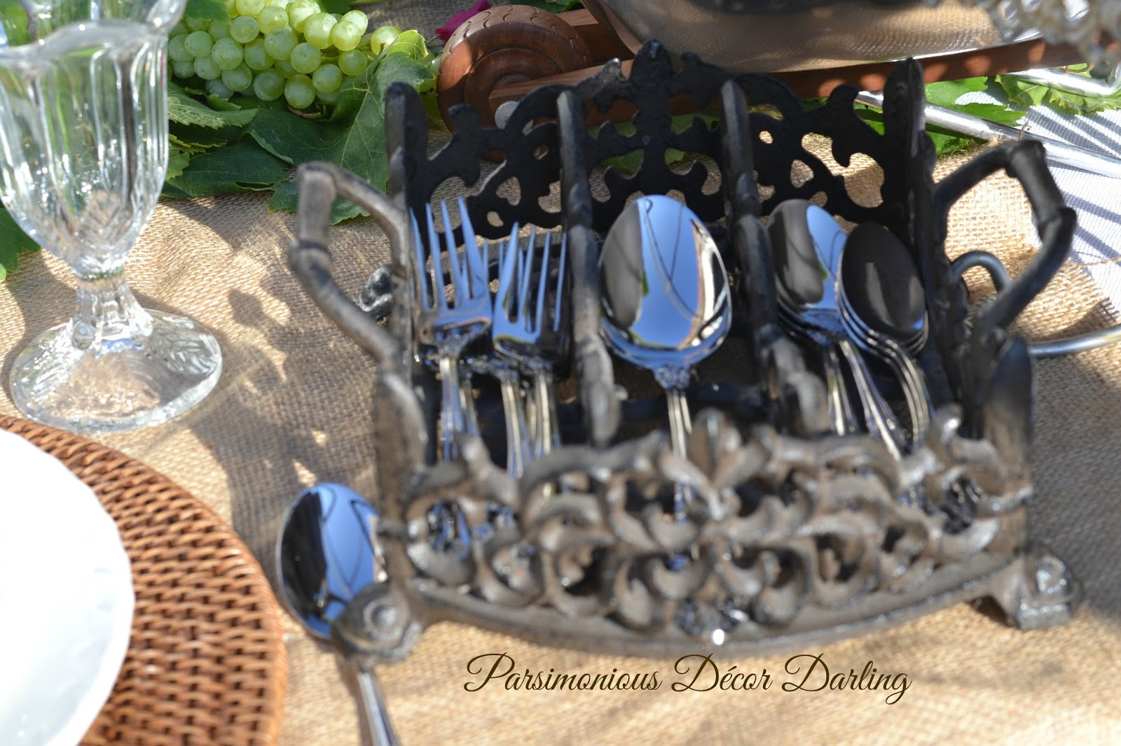 Parsimonious d cor darling set your table with flair mindfully mediterranean mise en table - Wrought iron silverware ...