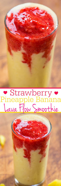 Strawberry Pineapple Banana Lava Flow Smoothie