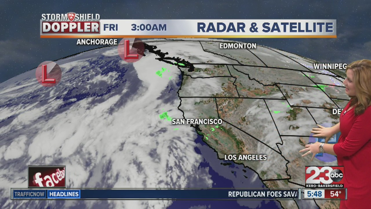 we finally saw a change in our stable weather pattern with low to mid 70s in the valley on thursday as fresh ocean air spilled into the state
