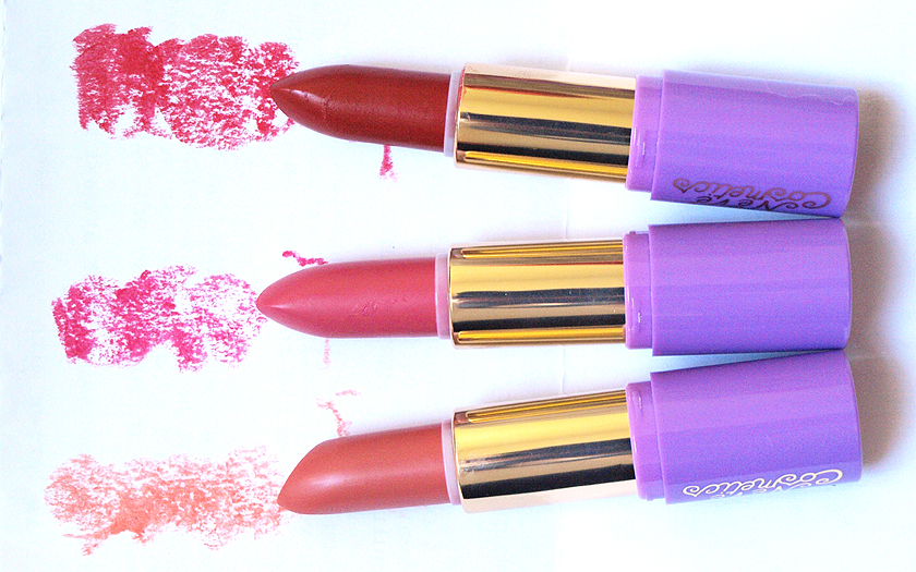 neve cosmetics dessert a levres lipsticks review and swatches