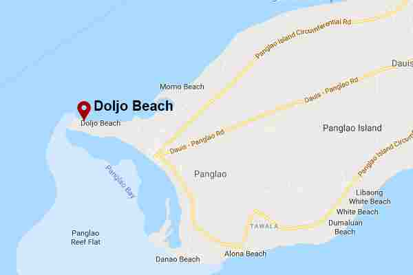 Best, peaceful, and Famous tourist spots  long white beach in doljo bohol philippines 2018 near at bellevue resort Map