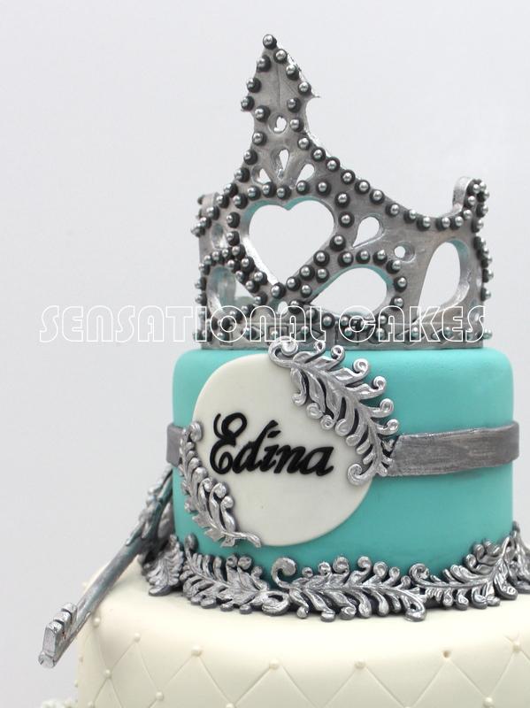 The Sensational Cakes Silver Blue 21st Birthday Tiara