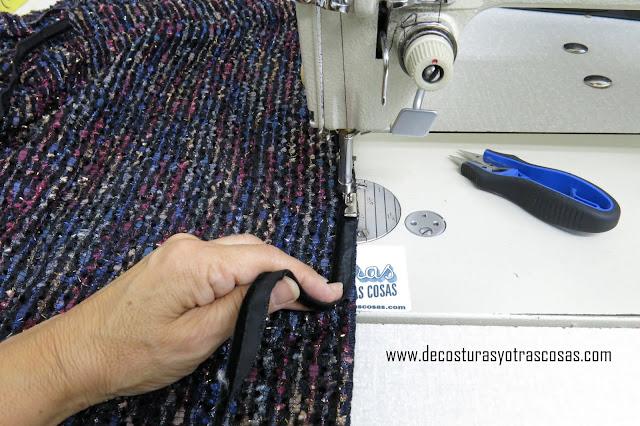 como coser vivo de terciopelo