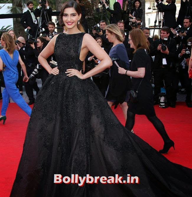 Sonam Kapoor, Bollywood Actresses Gowns at Cannes Film Festival 2014