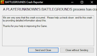 PUBG Crash ERROR