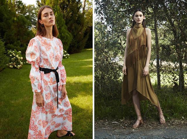 Зеленое платье с бахромой - Модная одежда для весны и лета