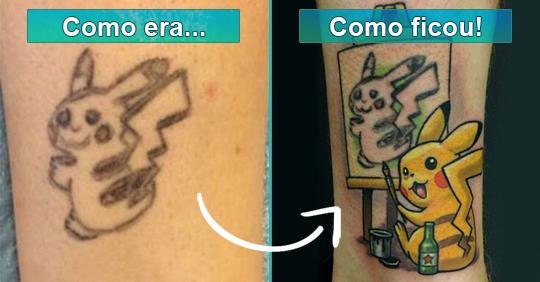 Tatuagens ruins que foram transformadas