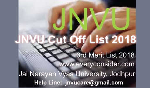 JNVU 3rd Cut Off List