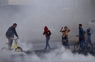 احتجاجات فى غزة بسبب قرار ترامب