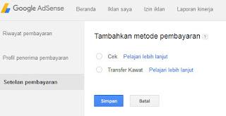 Cara Pembayaran Adsense untuk Publisher di Indonesia