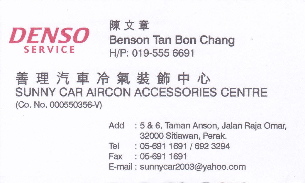 Malaysia Sunny Car Aircon Accessories Centre Denso Service