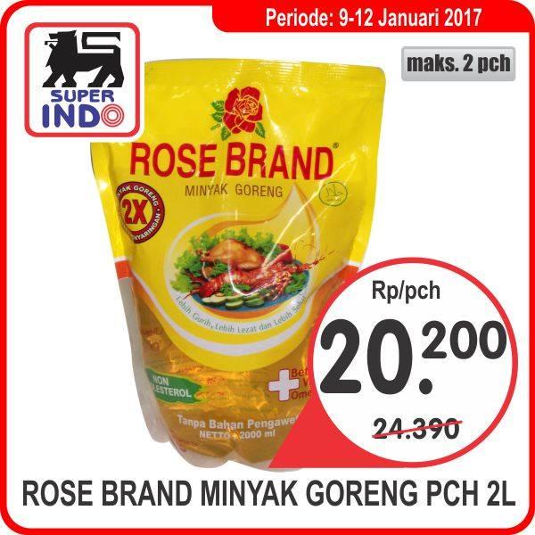 PROMO Rose Brand Minyak Goreng Pch 2Liter