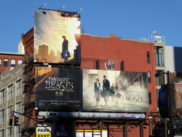 Fantastic Beasts and Where to Find Them movie billboards