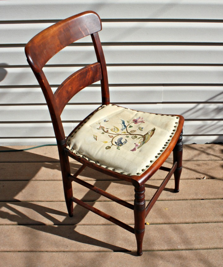 Vintage chair from auction