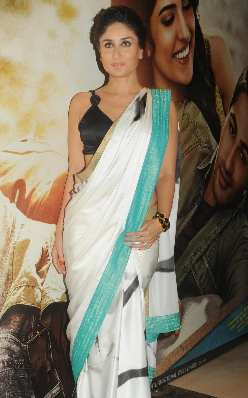 Kareena Kapoor Hot Spicy Photos In White Saree - Bollywood ...