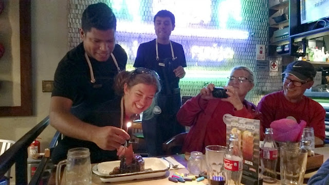 birthday celebration, eating out in Lima