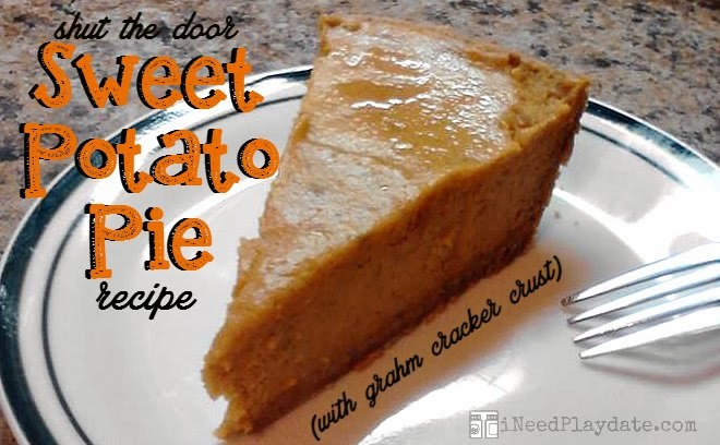 Shut the Door Sweet Potato Pie Recipe with a graham cracker crust