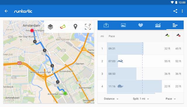 تطبيق Runtastic Running GPS Tracker صديقك أتناء الركض