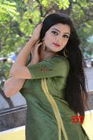 Akshitha cute beauty in Green Salwar at Satya Gang Movie Audio Success meet ~  Exclusive Galleries 040.jpg