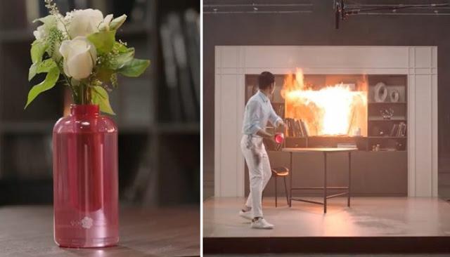 بالفيديو: مزهرية جديدة من سامسونغ تقوم بإطفاء الحرائق في ثوانٍٍ