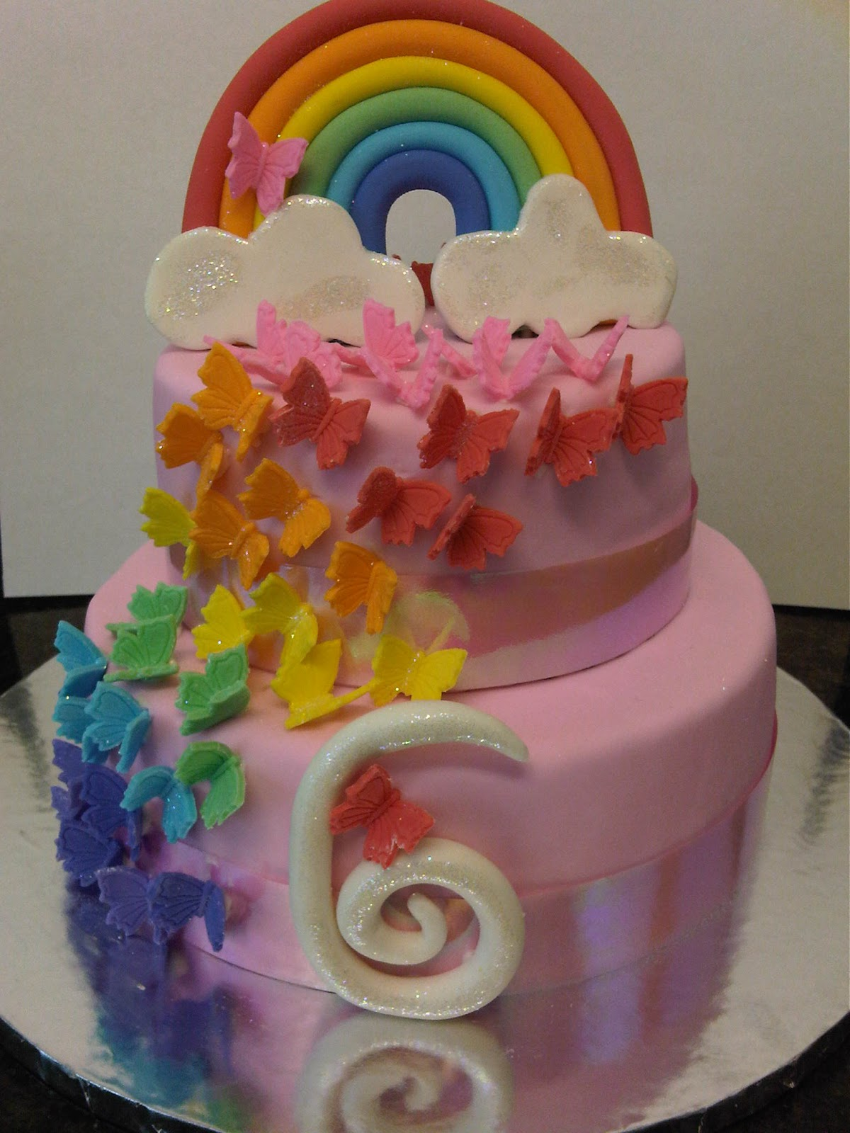Welcome To Just Iced Rainbow Butterfly Cake And Cookies