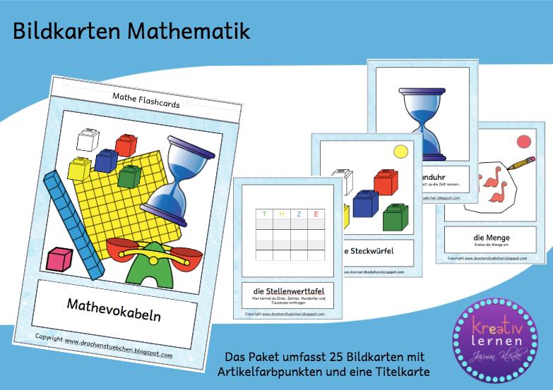 Drachenstübchen: Bildkarten: Mathematik Grundwortschatz für DaF und ...