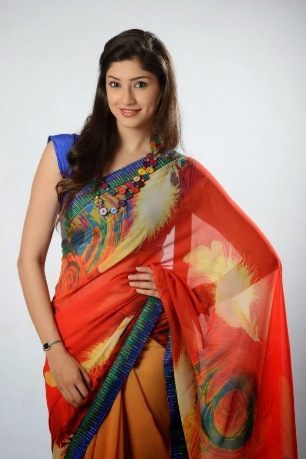 Actress Tanvi Vyas Latest Cute Saree Stills