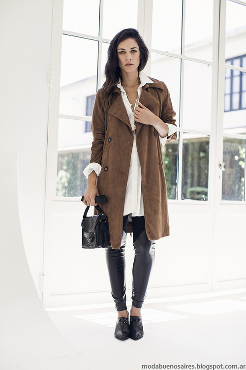 Tapados invierno 2016 Ossira moda mujer ropa. Moda otoño invierno 2016.