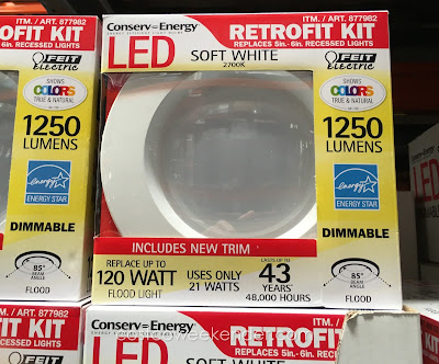 Make your home nice and bright with the Feit LED Dimmable Retrofit Kit