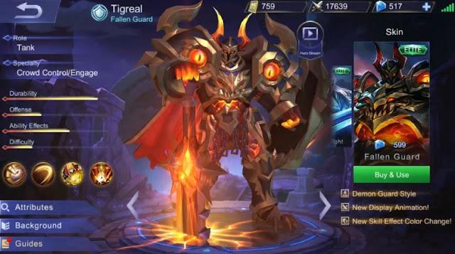 Gear Tigreal Terkuat