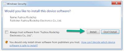 Open RockChip Fuzhu Driver Tool