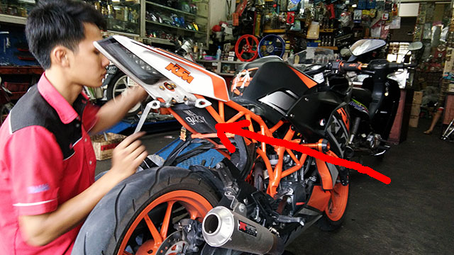 KTM RC 200 Kena Saman Nombor Plate Nakal 3
