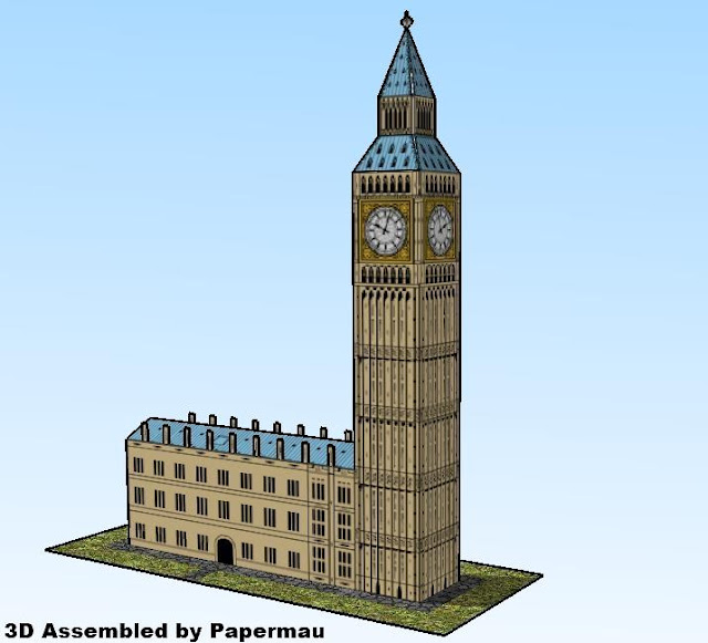 Easy To Build Big Ben Clock Tower Paper Model